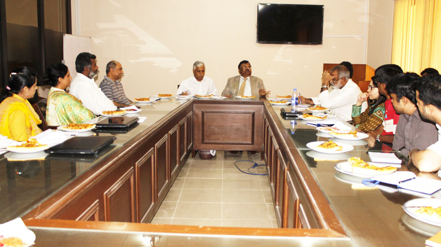 Vice Chancellor MUET met USPCAS-W Faculty and Staff - USPCAS-W