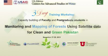 3-day Training Workshopon Monitoring and Mapping of Forests Using Satellite Data for clean and green Paksitan at USPCAS-W