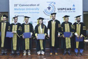 PhD Students in 3rd Graduation Ceremony of USPCAS-W at Mehran UET