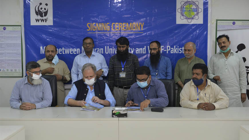 MoU between World Wide Fund for Nature – Pakistan WWF-Pakistan & Mehran University of Engineering and Technology Jamshoro